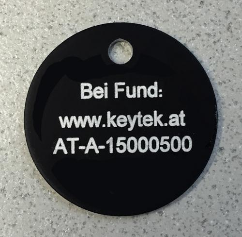 Keytek-Tieranhänger - Selbstregistrierung