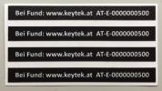 Keytek-Aufkleber 4er Set - Selbstregistrierung